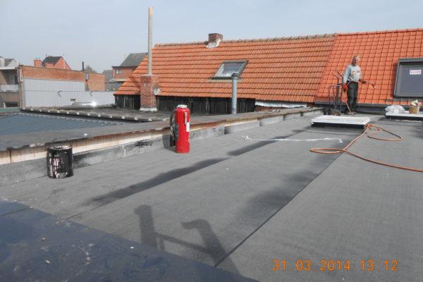 12. Plaatsing dakbedekking plat dak